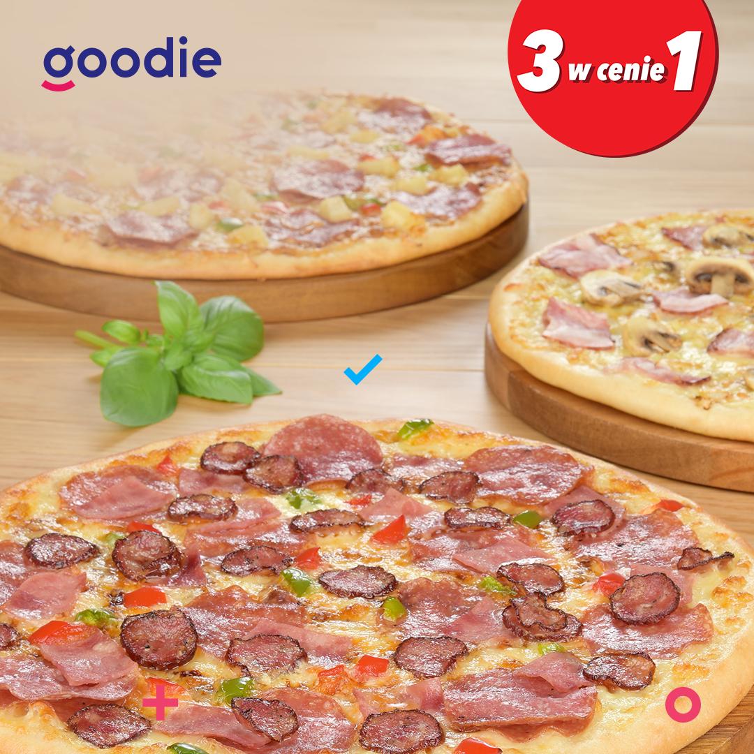 Telepizza: 3 w cenie 1 z aplikacją goodie