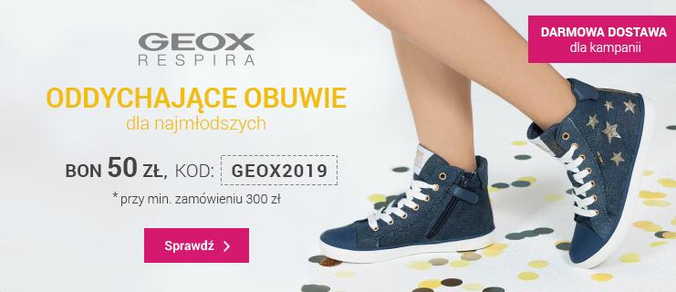 Promocja na dziecięce buty marki GEOX