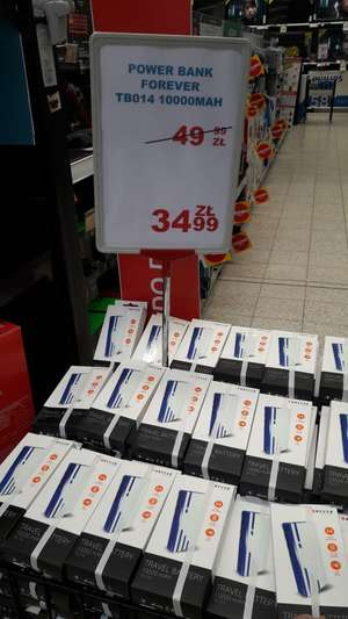 Powerbank Forever 10000 mAh Auchan Częstochowa