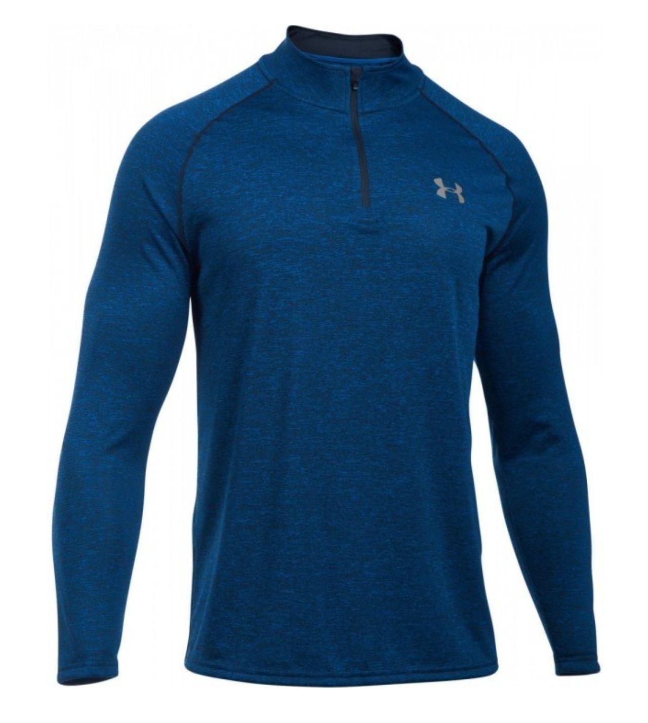 Bluza UNDER ARMOUR Tech 1/4 Zip Blue  Męska do biegania