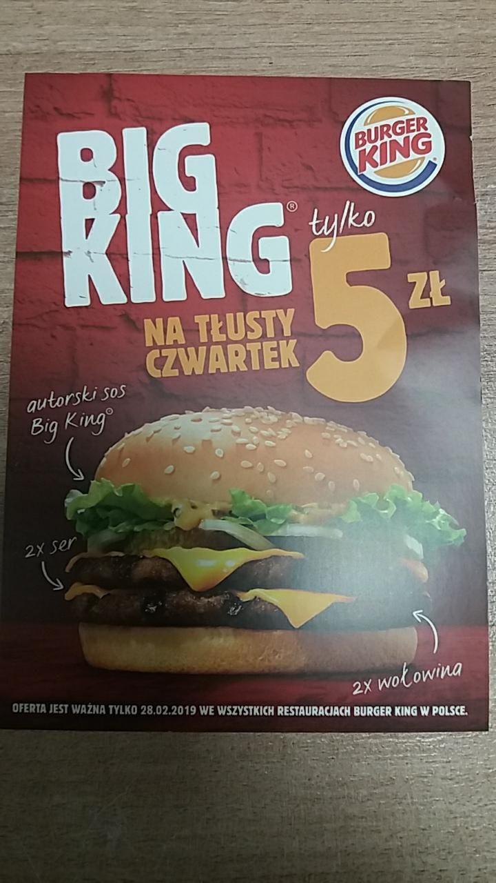 Big King za 5 zł w Burger King