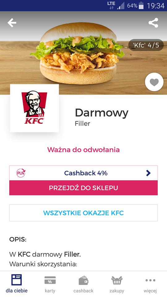 KFC darmowy filler