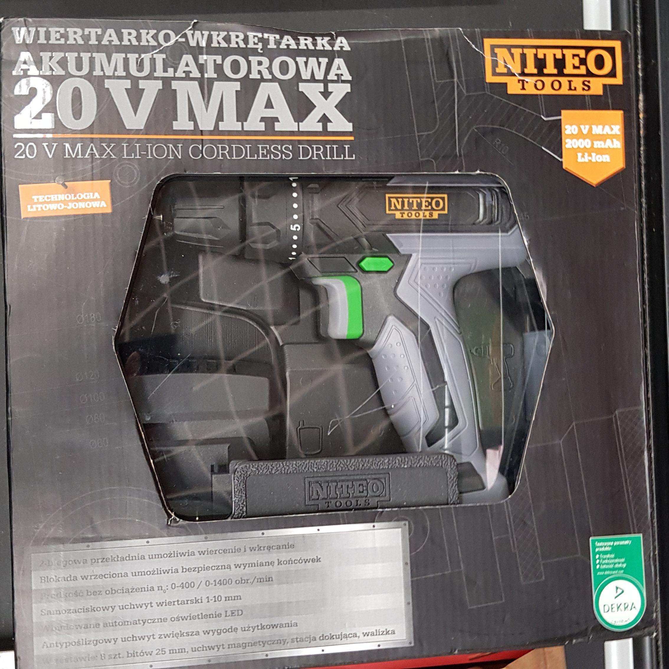 Wiertarko - wkrętarka akumulatorowa NITEO 20v w Biedronce