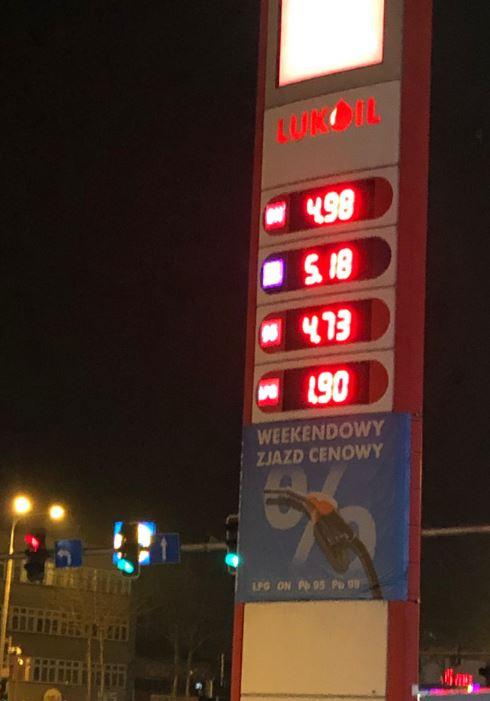 LPG 1,90 @ Lukoil Poznań rondo Starołęka