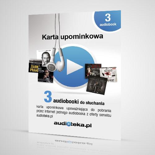 Karta upominkowa na 3 DOWOLNE audiobooki z oferty Audioteki @ Allegro