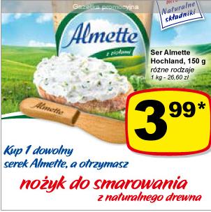 Kup 1 dowolny serek Almette, a otrzymasz nożyk do smarowania