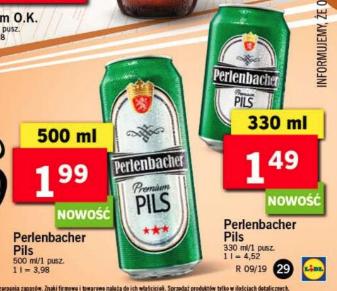 Piwo perlenbacher puszka 500 ml @lidl