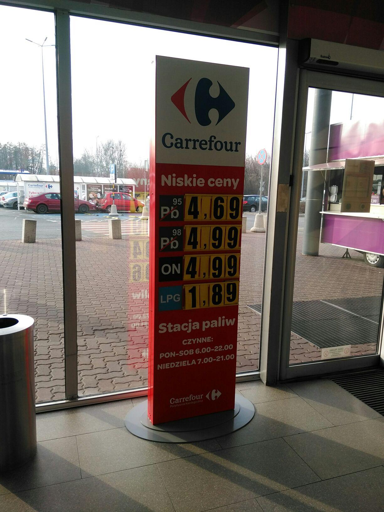 LPG Łódź Carrefour Kolumny
