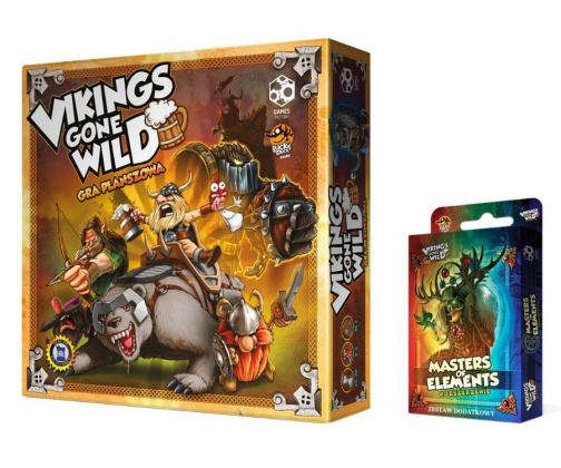 "Games Factory Vikings Gone Wild + Booster (gra planszowa) ""Gorący strzał""  al.to"