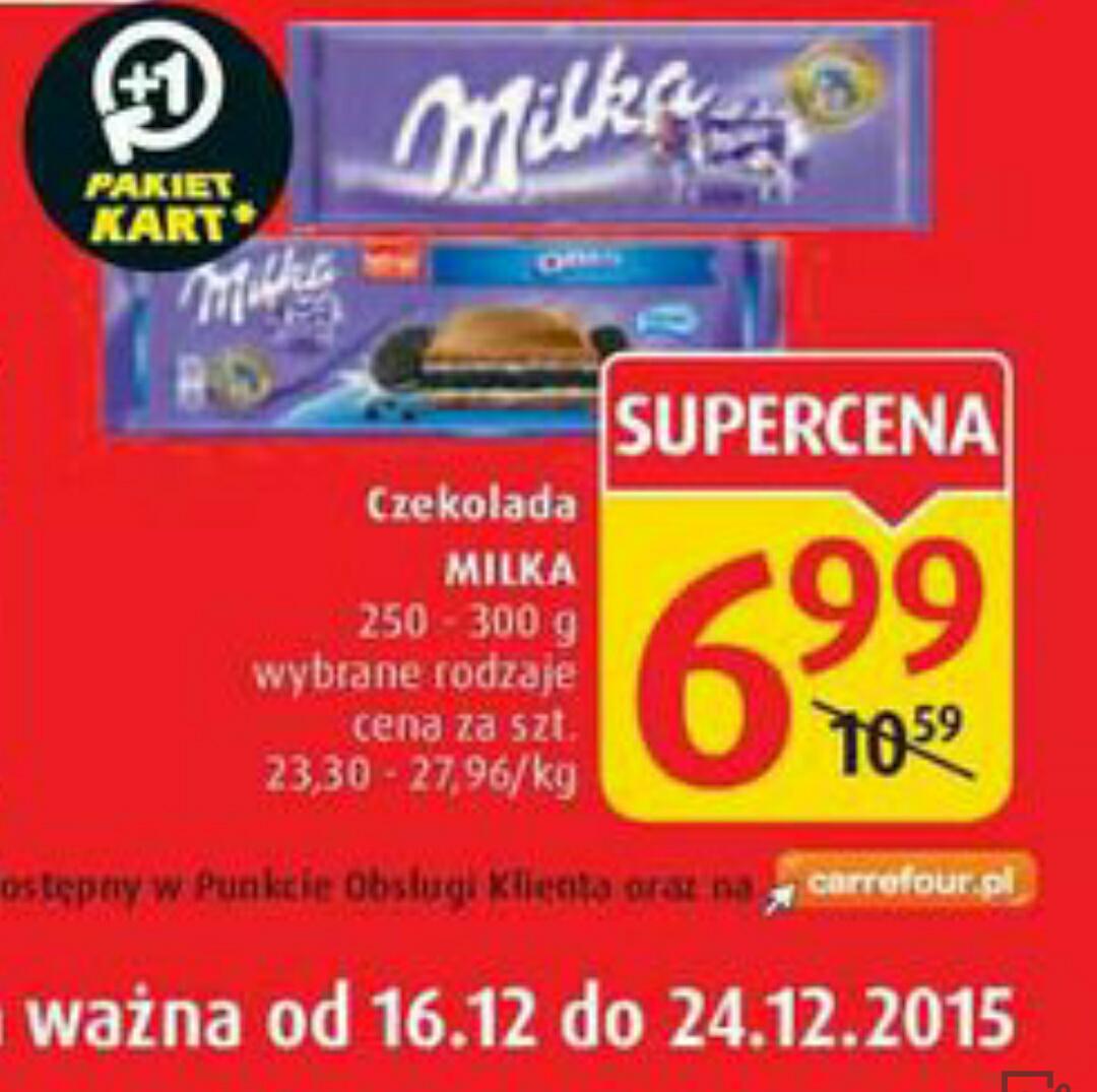 duże czekolady milka oreo, choco jelly i inne @ Carrefour