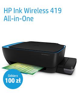 HP Ink Tank Wireless 419 - Cashback 100zł