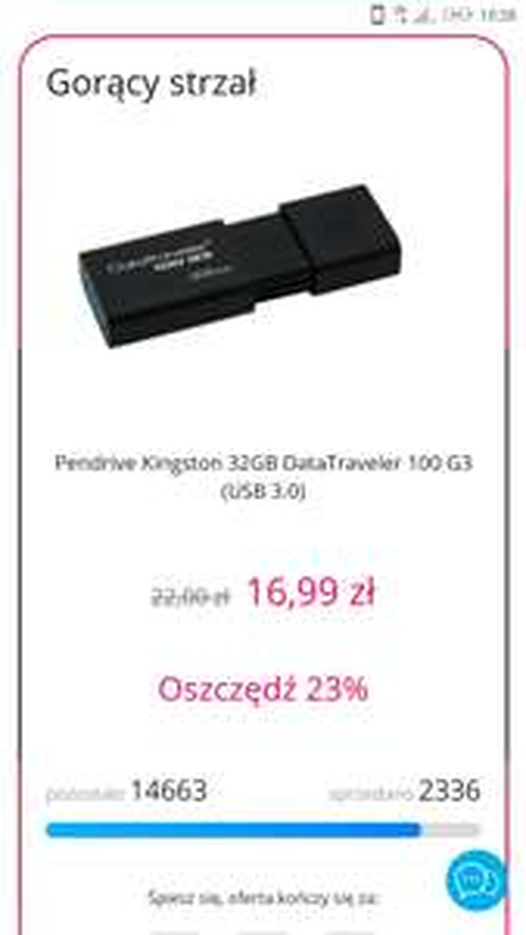 Pendrive Kingston 32GB - gorący-strzał - @x-kom