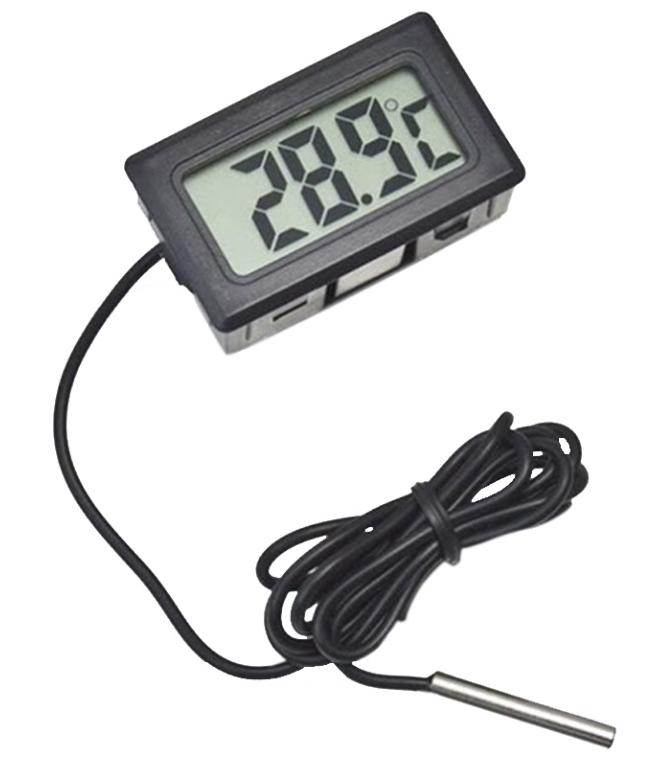 Termometr cyfrowy LCD z bateriami