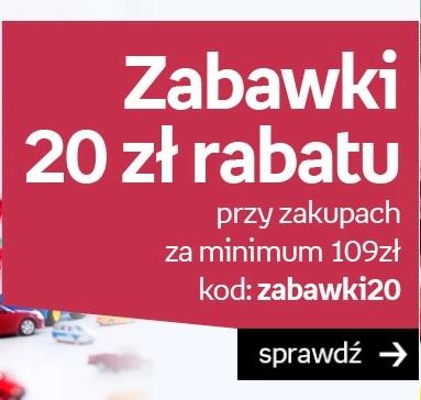 Kod rabatowy 20 zł na zabawki w Empiku!