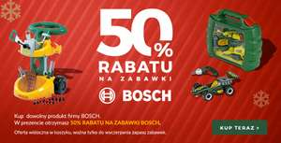 Rabat 50% na wybraną zabawkę Bosch w Nexterio.pl