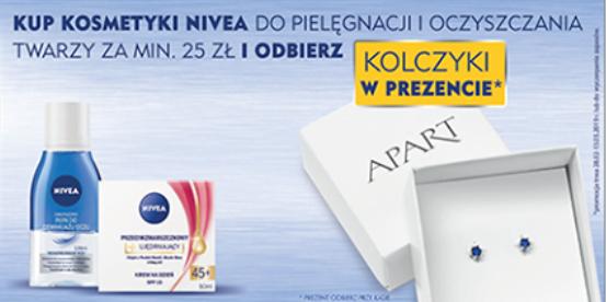 Kolczyki Apart gratis przy zakupie produktów Nivea za min.25zł oraz 1+1 na markę SVR @ Super-Pharm