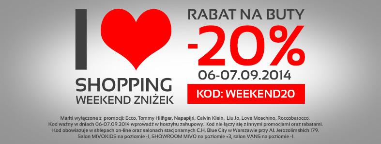 20% rabatu na buty tylko w ten WEEKEND @ Mivo.pl