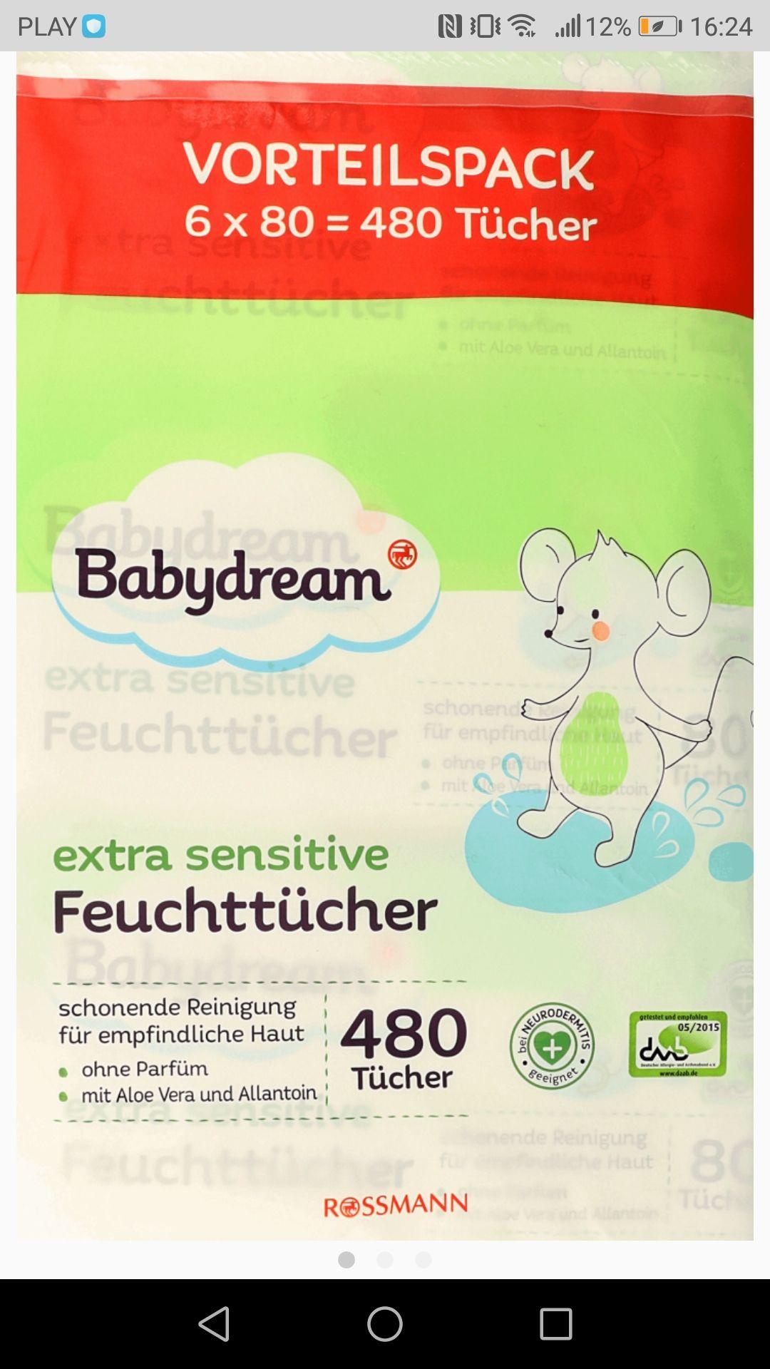 Rossmann Chusteczki nawilżane Babydream 0,04zł/szt TANIEJ z rabatem  ROSSNĘ  lub DRUGIE opakowanie 4x80szt za 50%