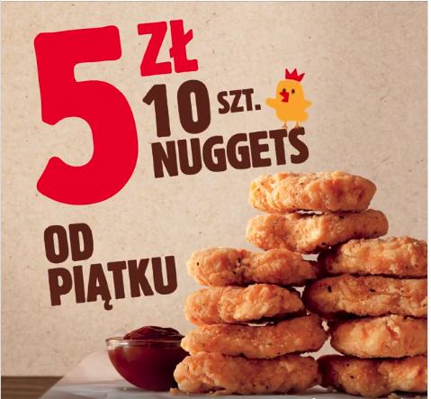 10 nuggetsów za 5 zł w Burger King!