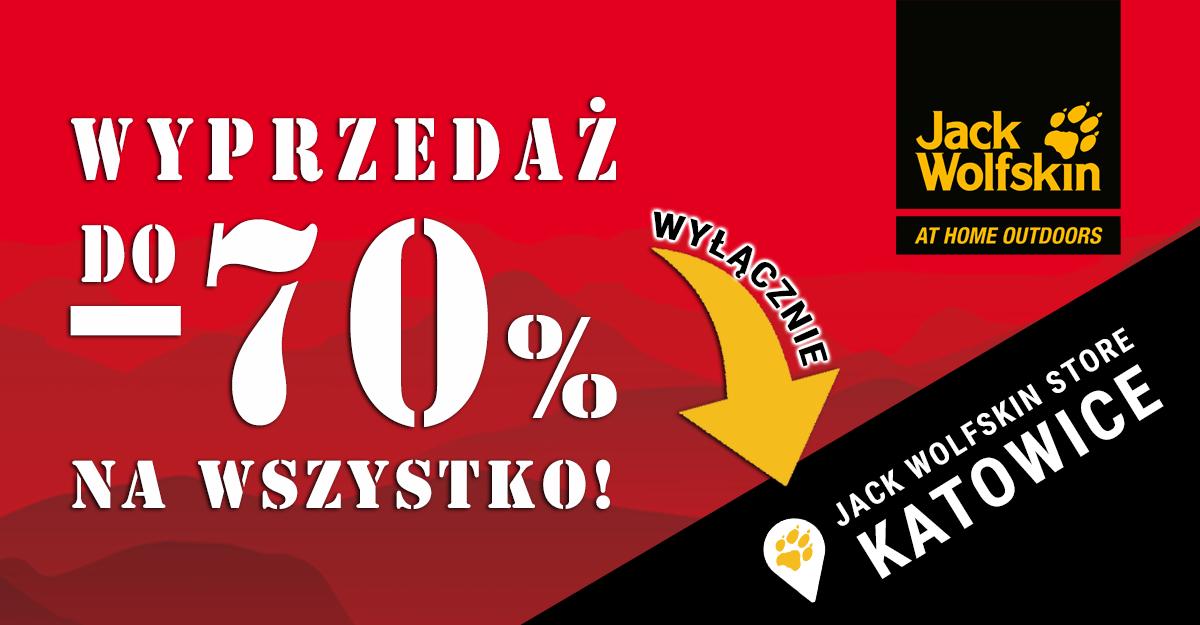 - 70% Katowice Jack Wolfskin Silesia, wyprzedaż przed zamknięciem lokalu (Katowice)