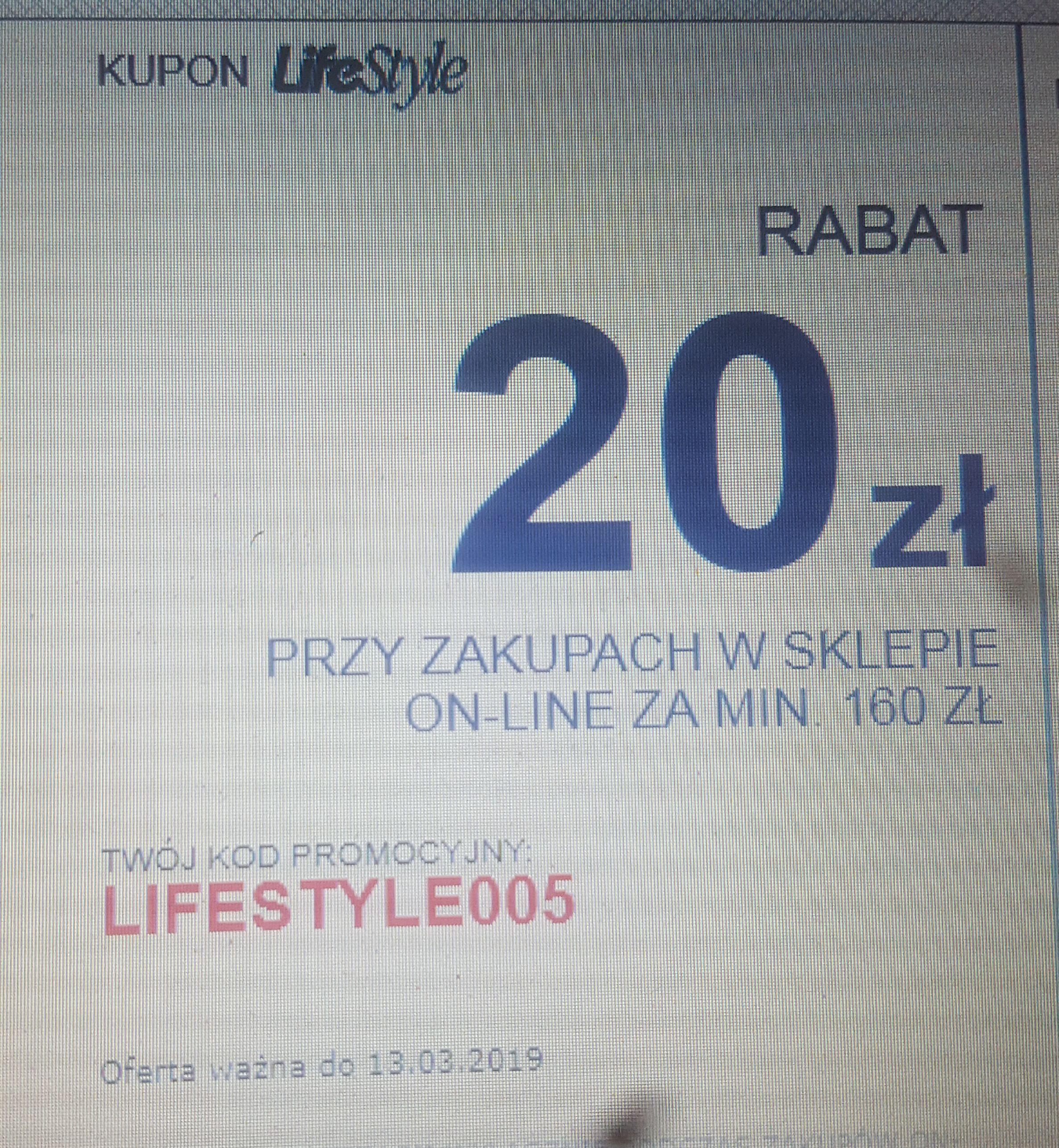 SuperPharm -20zł przy zakupach online MWZ 160zł z kartą Lifestyle