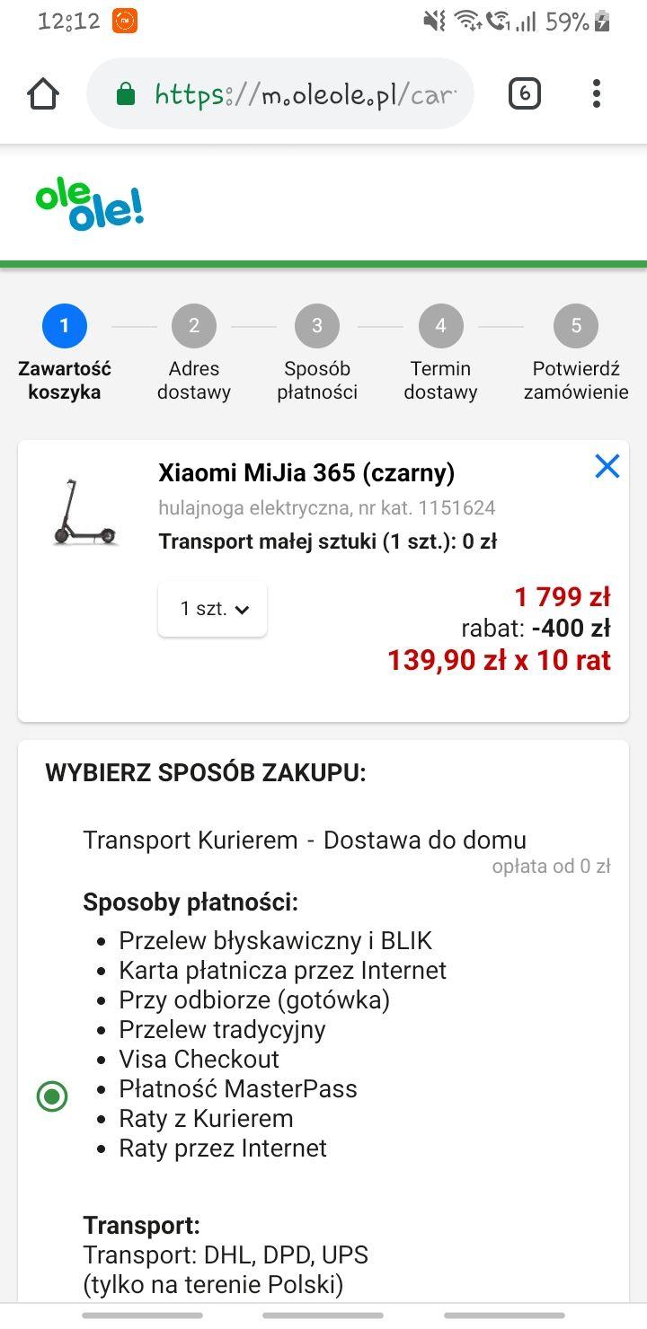 Xiaomi MiJia 365 (czarny) @ OleOle!