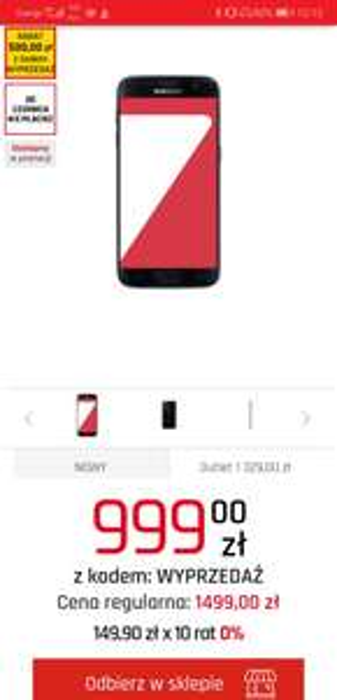 Stary ale jary Samsung Galaxy S7 z kodem za 999 zł w NEONET (nowy) dwa kolory