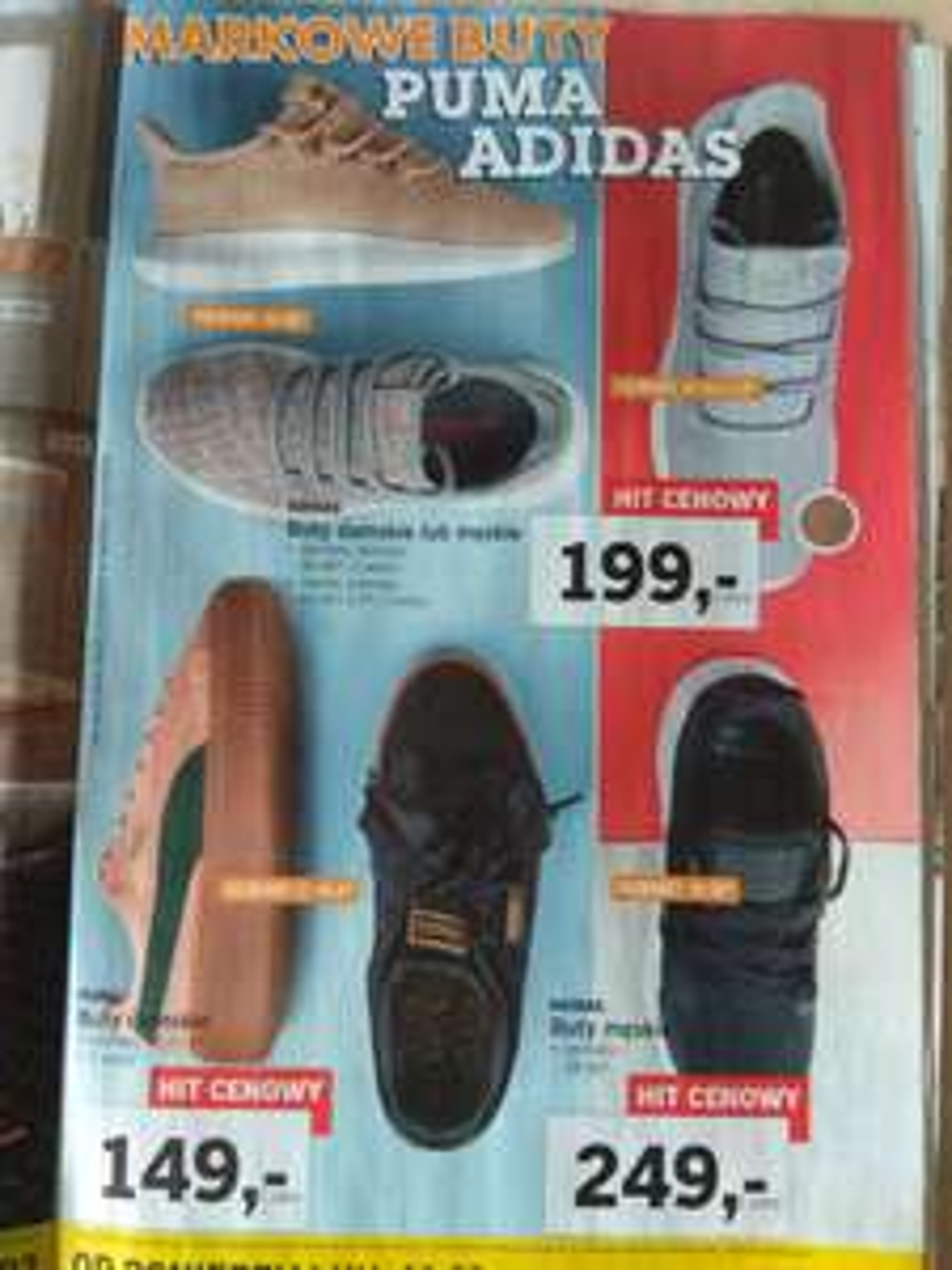 Buty adidas i puma w Lidlu
