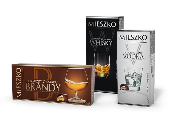 Likwory osmaku wódki, whisky ibrandy Mieszko, 180g, w Makro