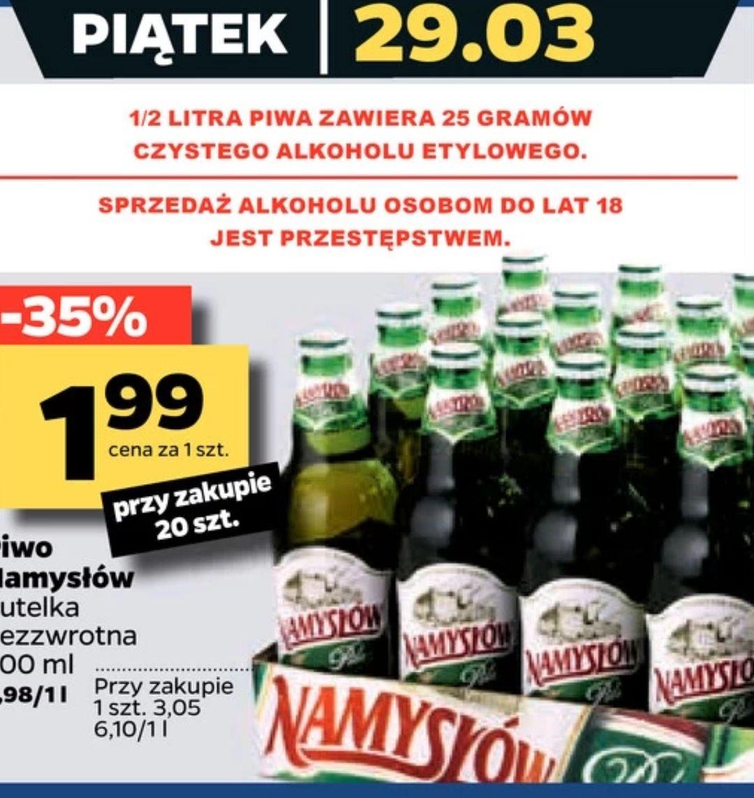 Piwo Namysłów 20x0.5L, tylko 29.03 @Netto
