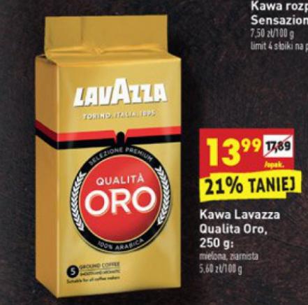 Kawa Lavazza Qualita Oro mielona,ziarnista 250g (Biedronka)