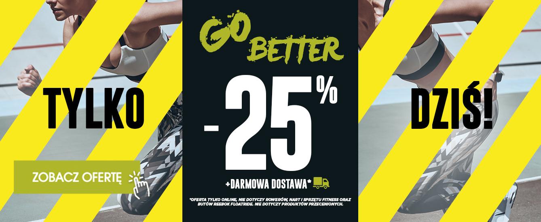 GO Sport on-line rabat -25% na wszystko* i DARMOWA DOSTAWA!