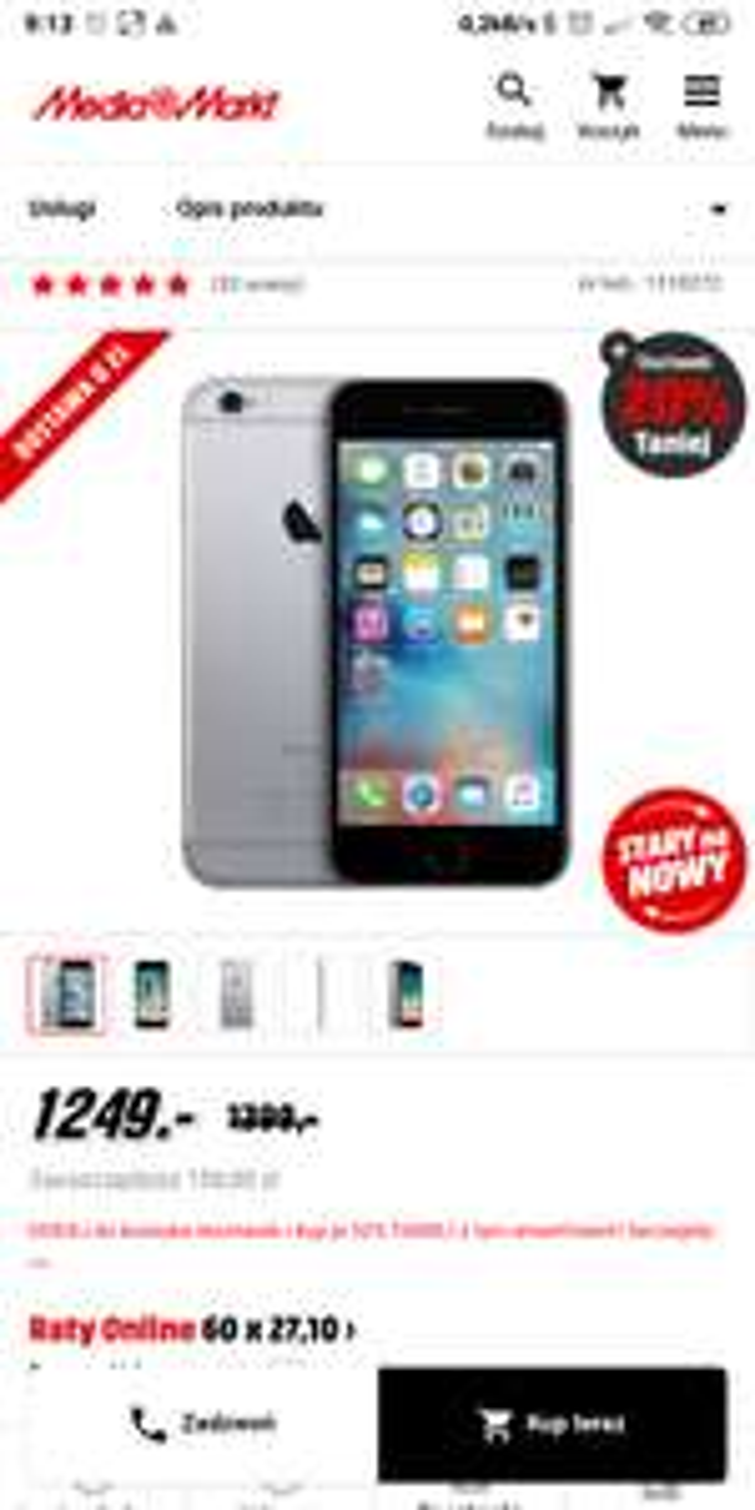 Apple iPhone 6s 32GB w Media Markt