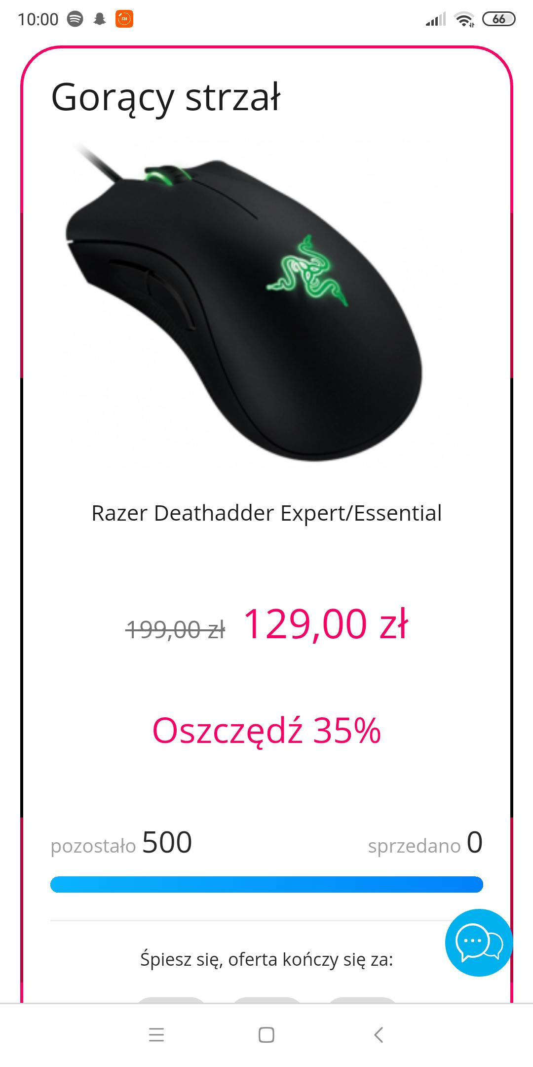 Razer Deathadder Expert/Essential Gorący Strzał x-kom