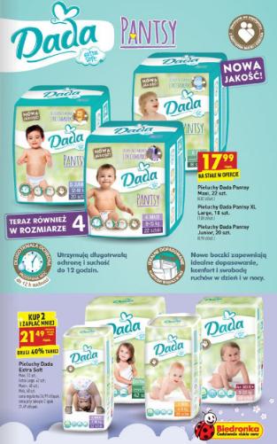 Dada Extra Soft za 21,49zł + Bebiko za 19,99zł (przy zakupie 2 szt.) @ Biedronka