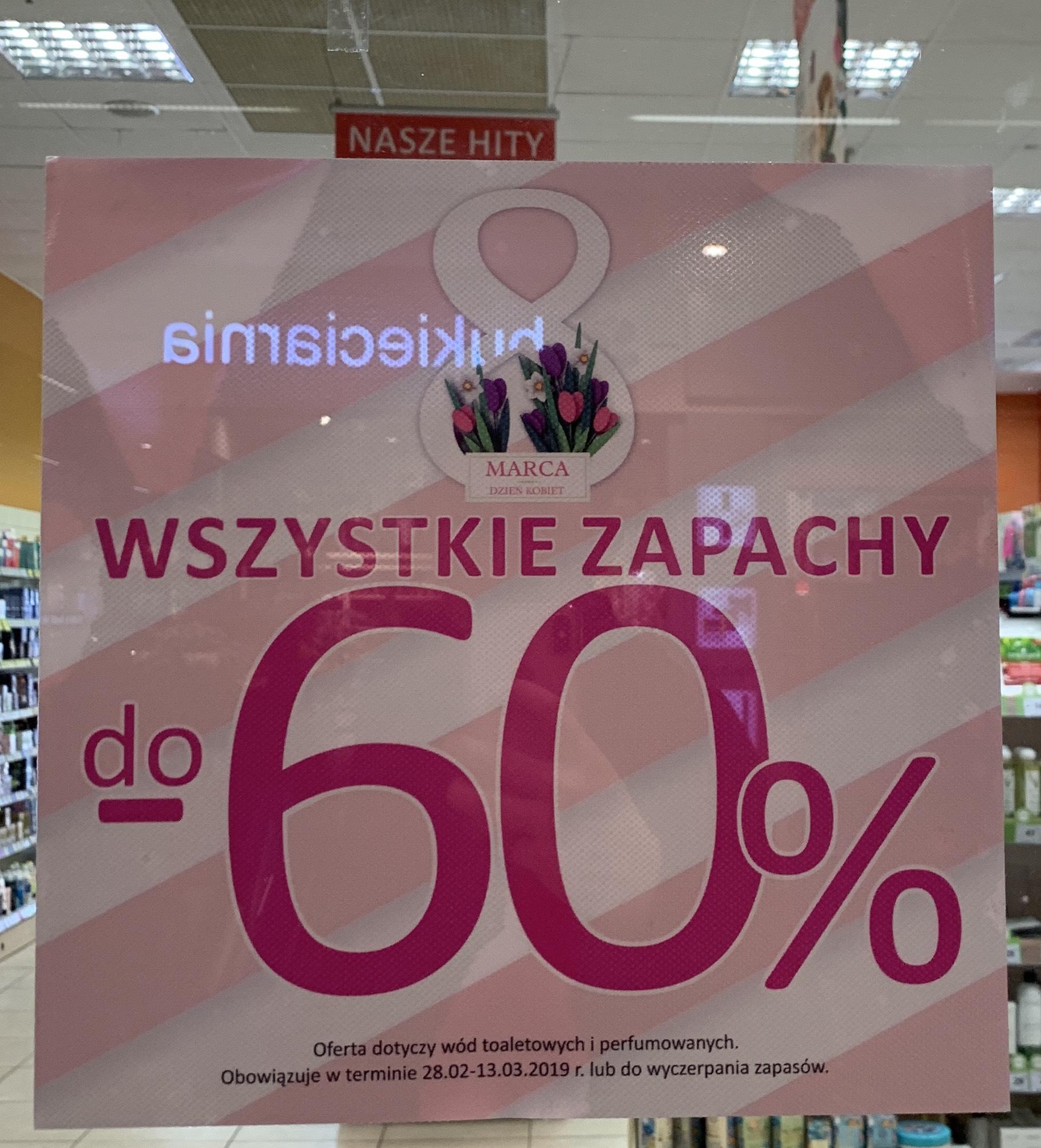 Do -60% wszystkie zapachy męskie damskie. Drogeria NATURA