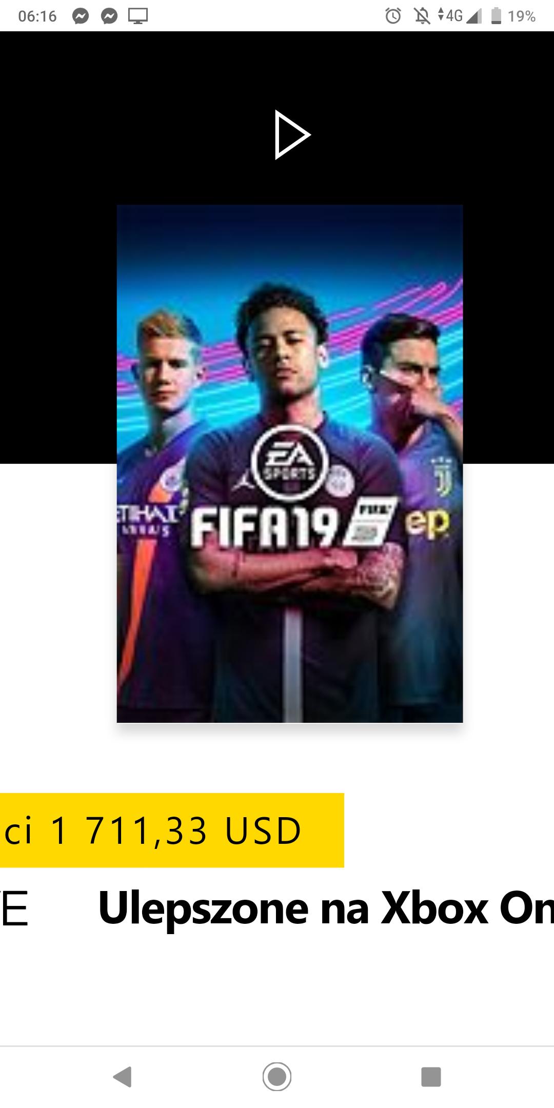 Fifa 19 Xbox cyfrowa z MS Argentyna