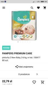 W Rossmannie Pampers Premium Care 2 80szt.
