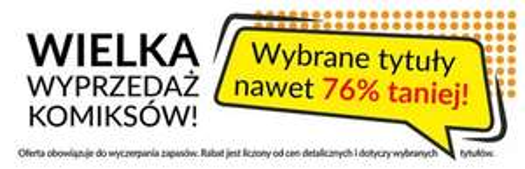 Komiksy do 76% taniej @ Prószyński i S-ka