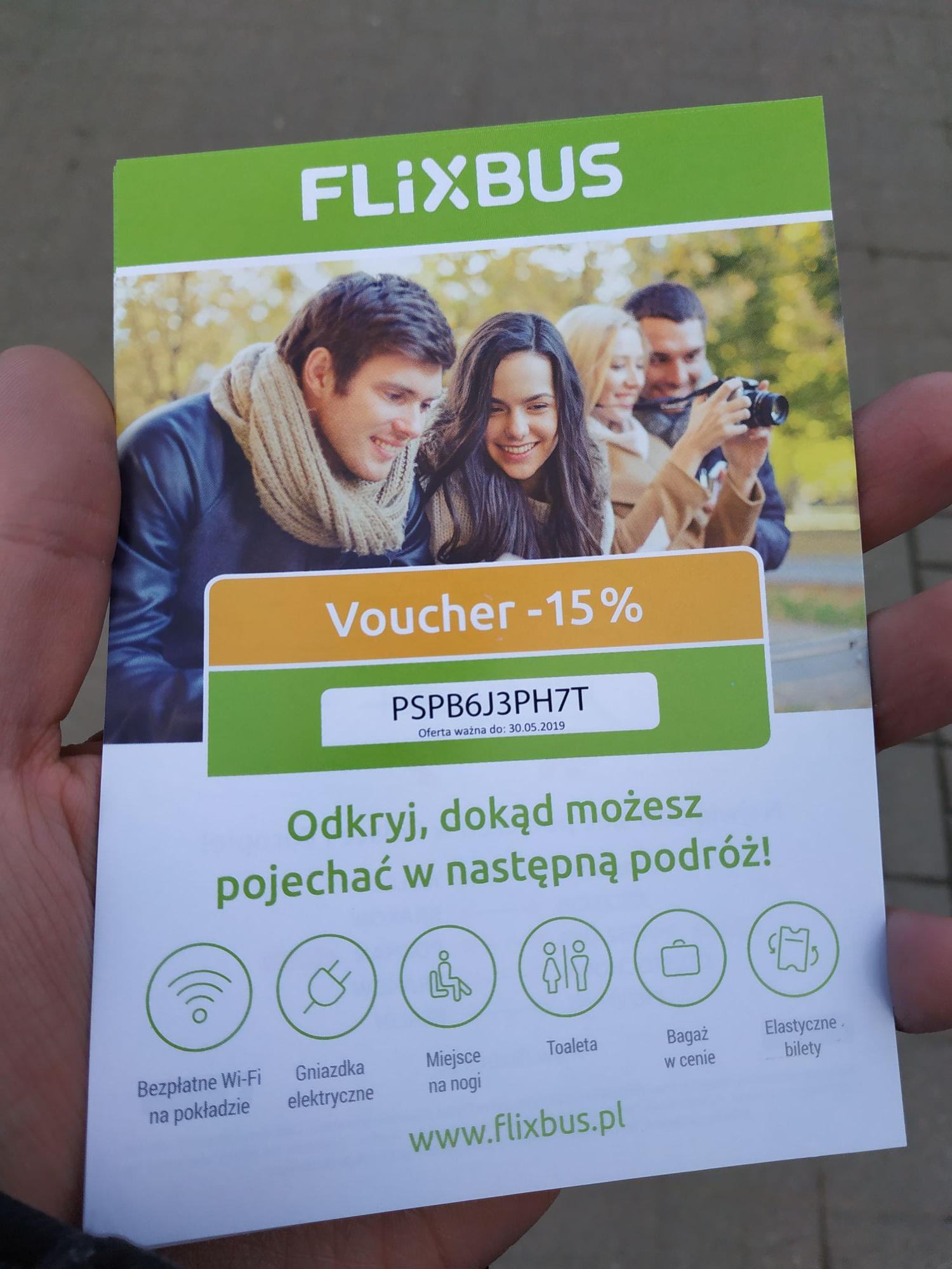 Voucher Flixbus -15% (nowe kody)