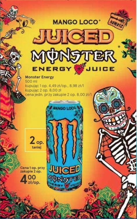 2x Monster Mango Loco za 8 zł dostępny w Tesco
