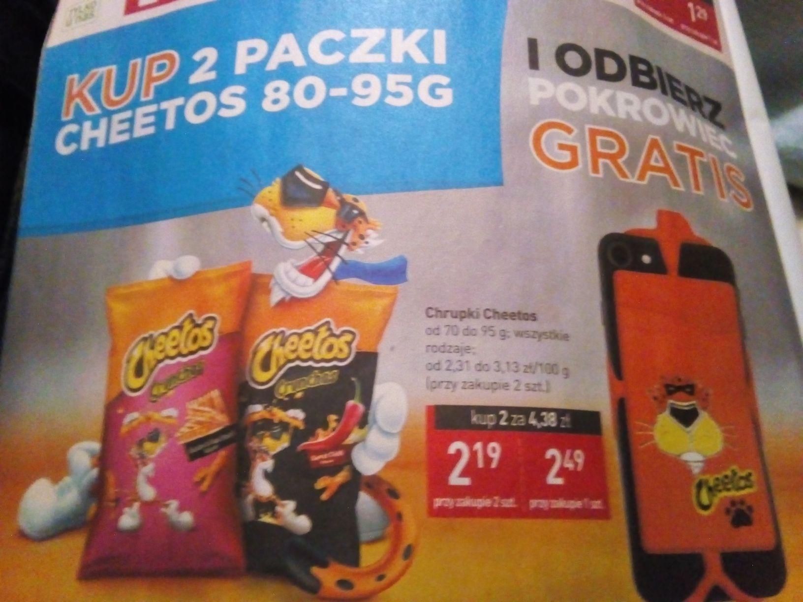 2xpaczki Cheetos (80-95g) za 4.38 zł + pokrowiec na telefon gratis@ stokrotka