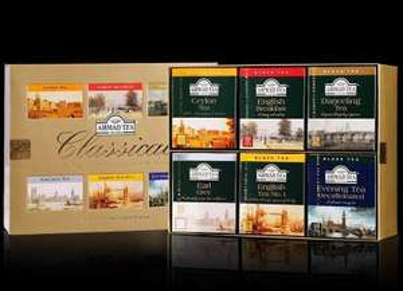 Zestaw 6 różnych herbat Ahmad Tea, 60 torebek, 120g, Auchan