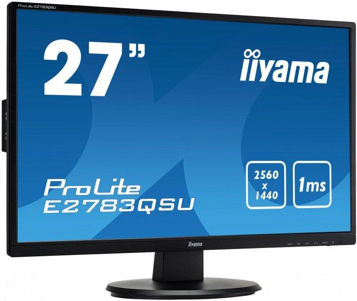 """iiyama ProLite E2783QSU-B1 27"""" WQHD 1ms"""