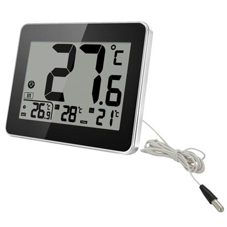 Termometr eletktroniczny zew/wew + godzina @Jula