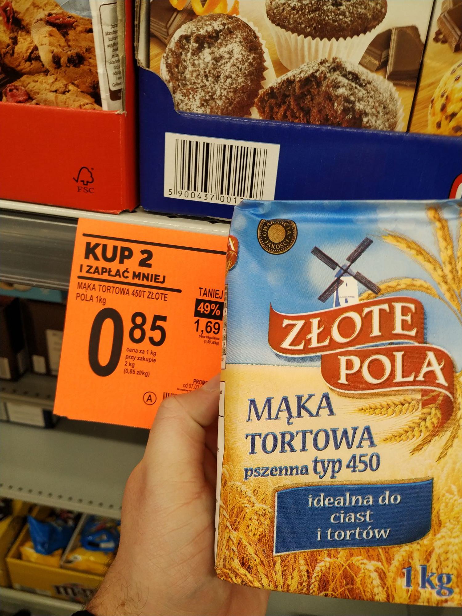 Mąka cena przy zakupie 2 szt. W Biedronce