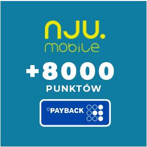 +8000 punktów (80zł) PAYBACK za nową umowę w NJU Mobile