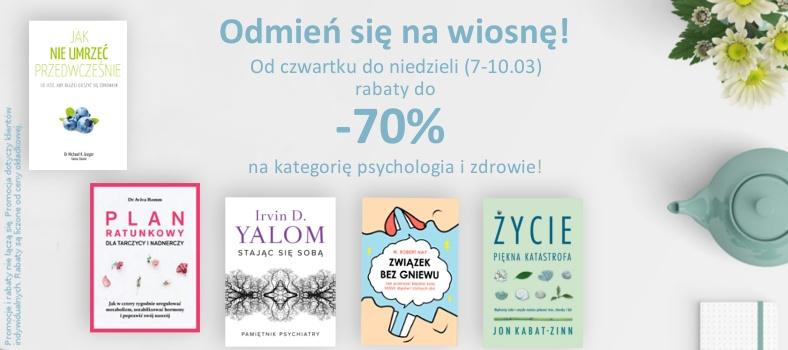 Do 70% rabatu na książki z kategorii psychologia i zdrowie @ Czarna Owca