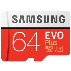 Samsung EVO PLUS 64GB karta Micro SD (9,99$)