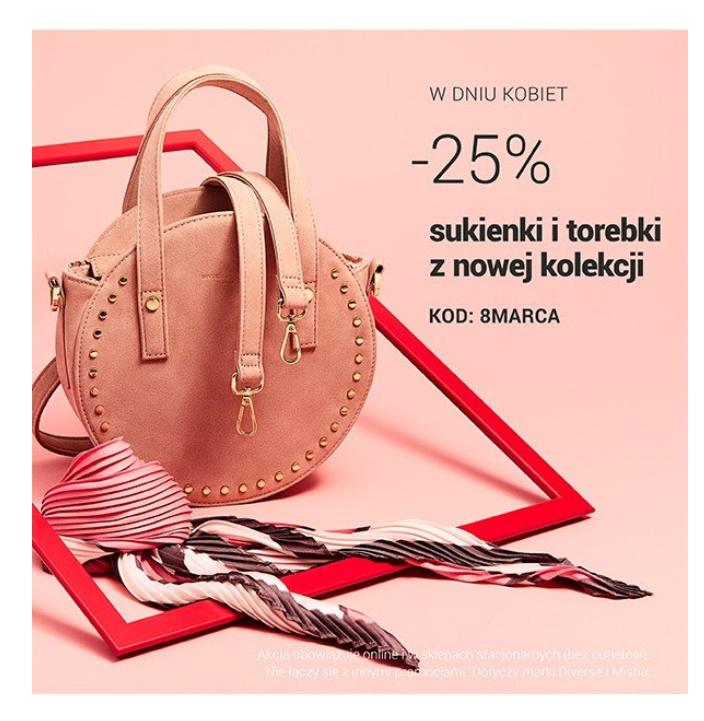 Dzień Kobiet w Diverse - kupony | -25% na produkty z nowej kolekcji i -30% na drugi produkt